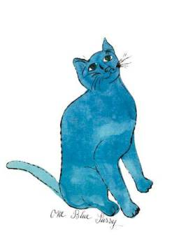 "klassischer Kunstdruck: Andy Warhol, Cat From ""25 Cats Named Sam and One Blue Pussy"", c. 1954  (One Blue Pussy)"