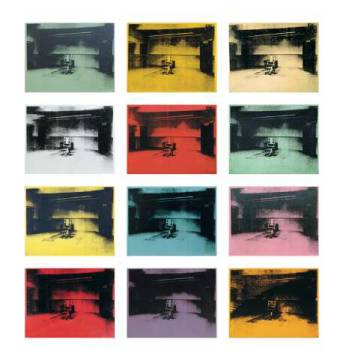klassischer Kunstdruck: Andy Warhol, Twelve Electric Chairs, 1964/65