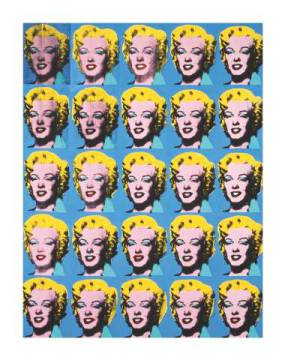 klassischer Kunstdruck: Andy Warhol, Twenty-Five Colored Marilyns, 1962