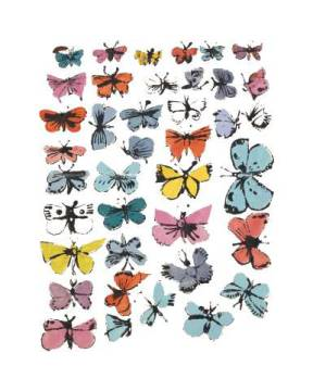klassischer Kunstdruck: Andy Warhol, Butterflies, 1955  (many/varied colors)
