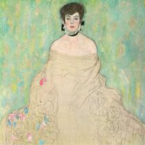 Gustav Klimt - Portrait of Amalie Zuckerkandl (unfinished), 1917-1918