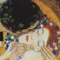Gustav Klimt - The Kiss (head detail)