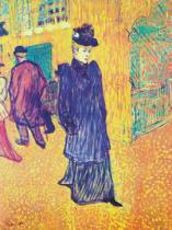 Henri de Toulouse-Lautrec - Jane Avril leaves the Moulin Rouge