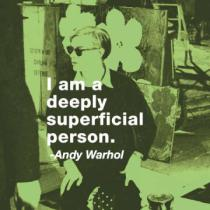 Andy Warhol - I am a deeply superficial person (color square)
