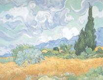 Vincent van Gogh - A Wheatfield with Cypresses