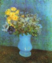 Vincent van Gogh - Vase with Lilacs, Daisies and Anemone