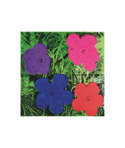 Andy Warhol - Flowers, c. 1964 (1 purple, 1 blue, 1 pink, 1 red)