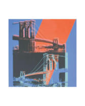 Andy Warhol - Brooklyn Bridge, 1983 (pink, red, blue)