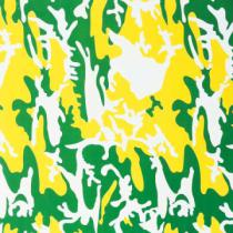 Andy Warhol - Camouflage, 1987 (green, yellow, white)