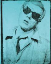 Andy Warhol - Self-Portrait, 1964 (teal)
