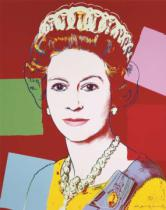 Andy Warhol - Reigning Queens: Queen Elizabeth II of the United Kingdom, 1985 (dark outline)