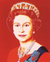 Andy Warhol - Reigning Queens: Queen Elizabeth II of the United Kingdom, 1985 (light outline)