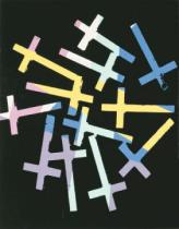 Andy Warhol - Crosses, c. 1981-82 (random/purple, yellow, blue)