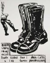 Andy Warhol - Paratrooper Boots, c. 1985-86