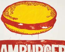 Andy Warhol - Hamburger, c. 1985-1986