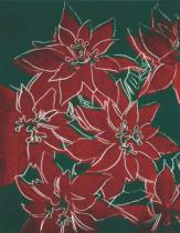 Andy Warhol - Poinsettas, c. 1982 (on black)