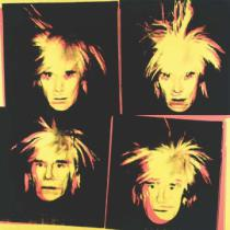 Andy Warhol - Self-Portrait, 1986 (4 yellow Andys)