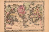 Ward Maps - Map of the World, 1867