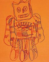 Andy Warhol - Moon Explorer Robot, 1983 (orange)