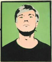 Andy Warhol - Self-Portrait, 1964 (on green)
