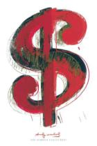 Andy Warhol - Dollar Sign, 1981 (red)