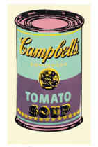 Andy Warhol - Campbell's Soup Can, 1965 (green & purple)