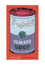 Andy Warhol - Campbell's Soup Can, 1965 (blue & purple)