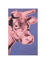 Andy Warhol - Cow, 1976 (pink & purple)