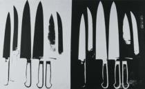 Andy Warhol - Knives, c. 1981-82 (silver and black)