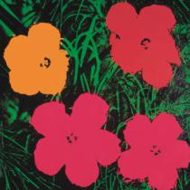 Andy Warhol - Flowers, 1964 (1 red, 1 yellow, 2 pink)