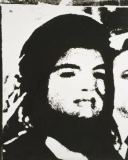 Andy Warhol - Jackie- With Veil (Man's Head to Right), 1964