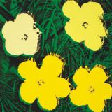 Flowers, 1970 (4 yellow) von Andy Warhol