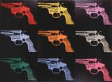 Andy Warhol - Gun, c. 1982 (many/rainbow)