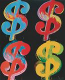 Andy Warhol - $4, 1982 (blue, red, orange, yellow)