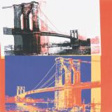 Andy Warhol - Brooklyn Bridge, 1983 (black bridge/white background)