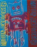 Andy Warhol - Moon Explorer Robot, 1983 (blue and purple)