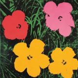 Flowers, 1964  (1 red, 1 pink, 2 yellow) of Andy Warhol