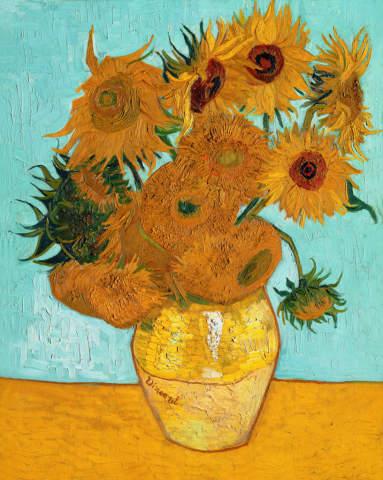 Van Gogh Vase Mit Sonnenblumen Kunstdruck Leinwandbild Gerahmtes