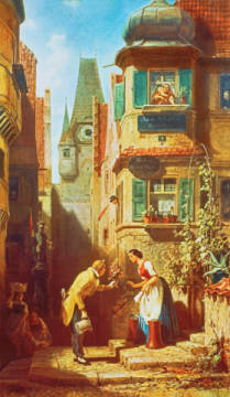 Fine Art Reproduction, individual art card: Carl Spitzweg, The Eternal Bridegroom