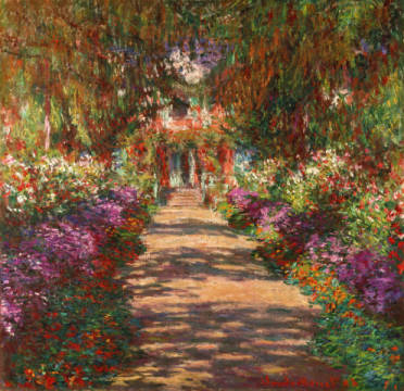 Fine Art Reproduction, individual art card: Claude Monet, A Pathway in Monet's Garden, Giverny, 1902