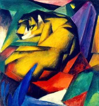 The tiger of artist Franz Marc as framed image