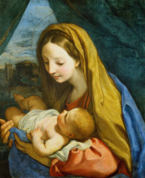 Fine Art Reproduction, individual art card: Carlo Maratti, Mary with child