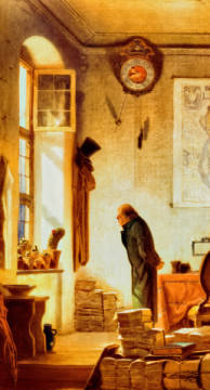 Fine Art Reproduction, individual art card: Carl Spitzweg, Der Kaktusliebhaber