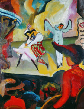 digitaler Kunstdruck, individuelle Kunstkarte: August Macke, Russisches Ballett I