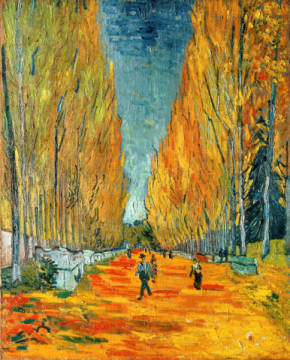 Die Alyscamps, Allee in Arles of artist Vincent van Gogh as framed image