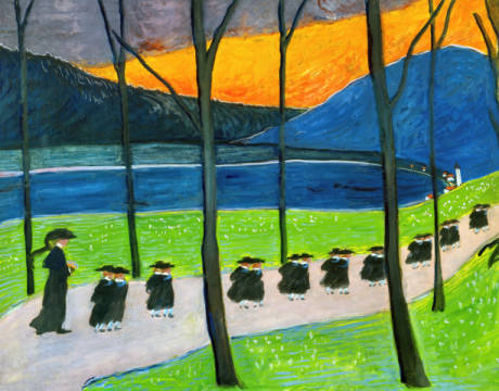 Fine Art Reproduction, individual art card: Marianne von Werefkin, Herbst - Schule