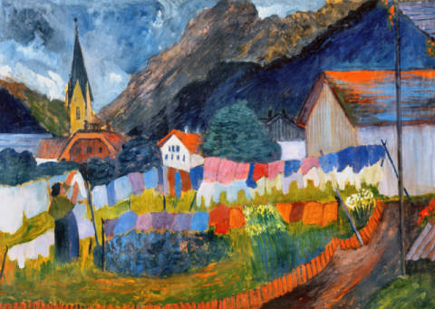 Fine Art Reproduction, individual art card: Marianne von Werefkin, Im Dorf