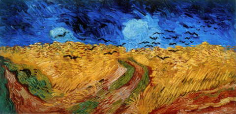 Fine Art Reproduction, individual art card: Vincent van Gogh, Cornfield with Crows