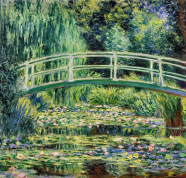 Fine Art Reproduction, individual art card: Claude Monet, White Waterlilies, 1899