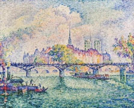 Le Pont des Arts of artist Paul Signac as framed image